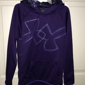 Girls purple under armor hoodie